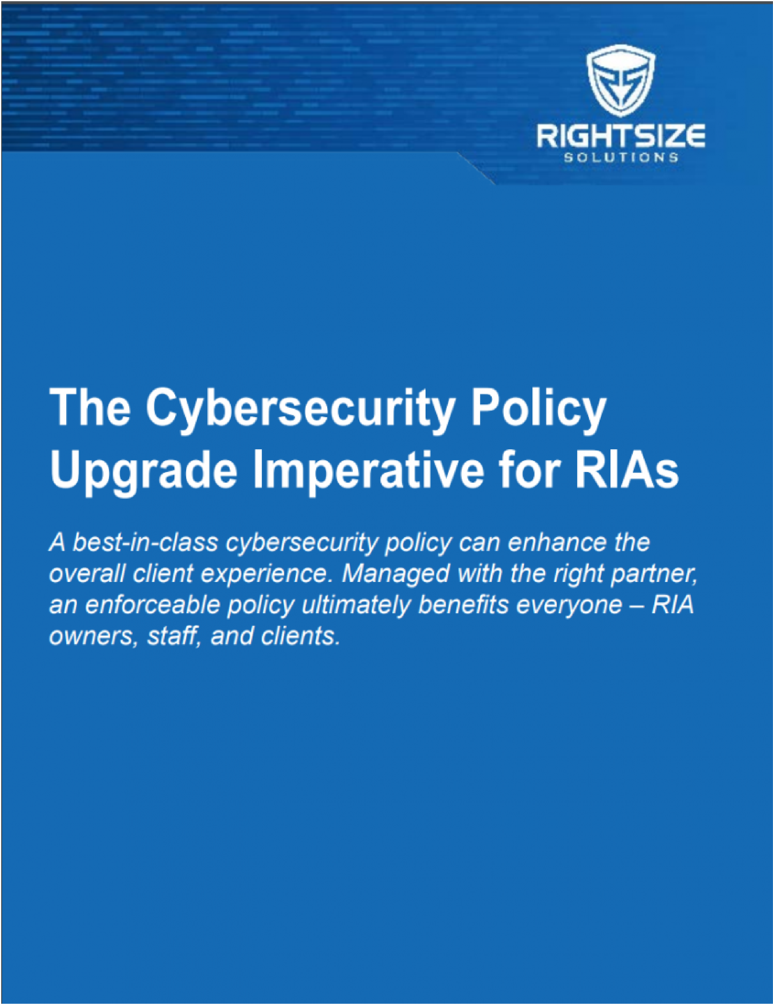 Cybersecurity | RightSize Solutions