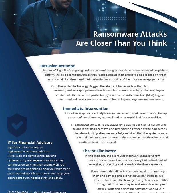 Case Study: Ransomware Attacks Are Closer Than You Think